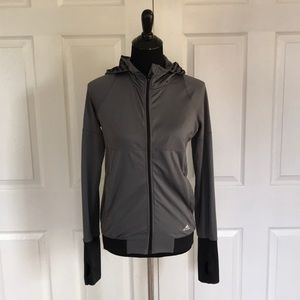 Adidas Climalite zip up hoodie with thumb holes